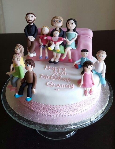 Fondant Family On Cake Helen S Cake Corner Grandma