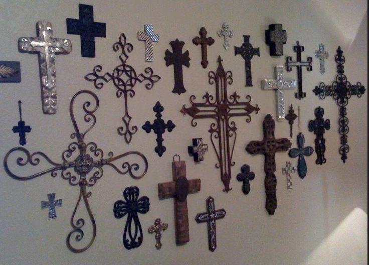 196 best cool crosses images on pinterest crosses the for Cross wall decor ideas