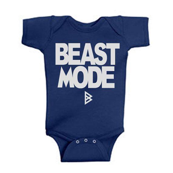 Beast Mode Onesies Seattle Seahawks Onesie Marshawn Lynch Skittles on Etsy, $14.99