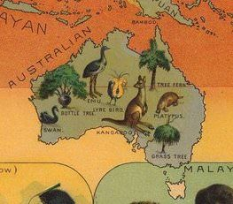 Animal map of Australia (1893)