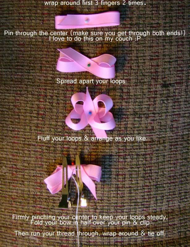 Free Baby Hair Bow Instructions For Itty Bitty Bows