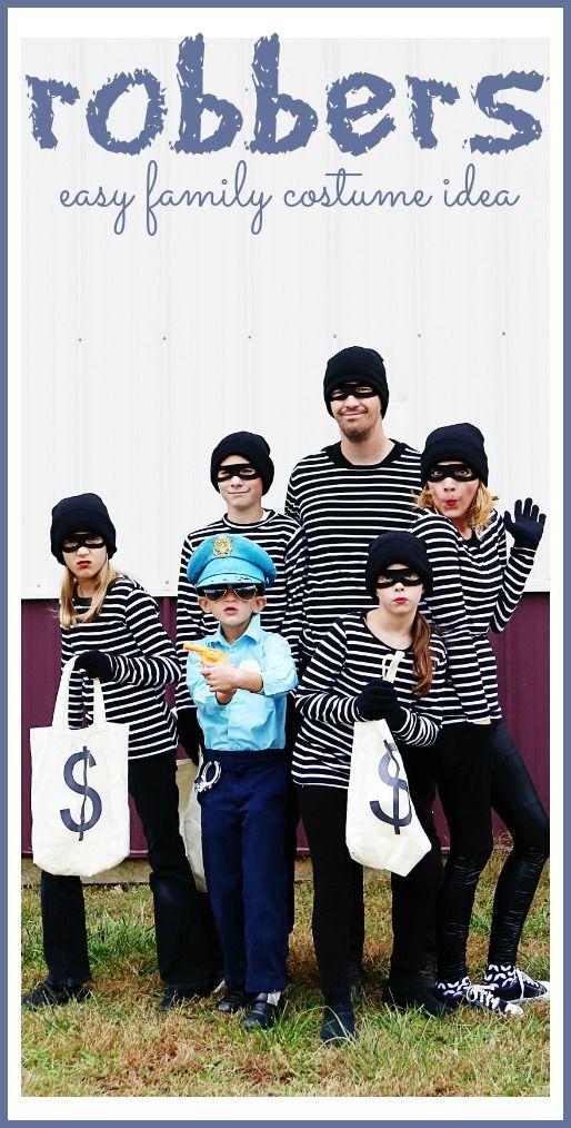 robbers super simple easy family halloween costume idea
