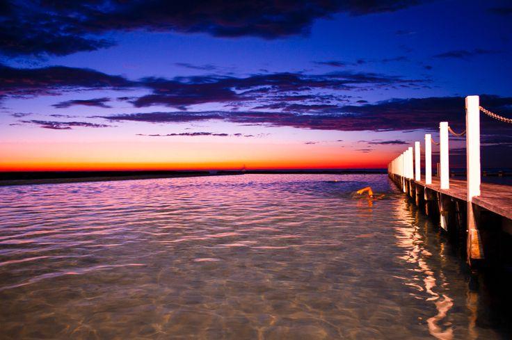 Narrabeen Ocean Pool, sunrise, Narrabeen, NSW Australia  Copyright of Jo Thom