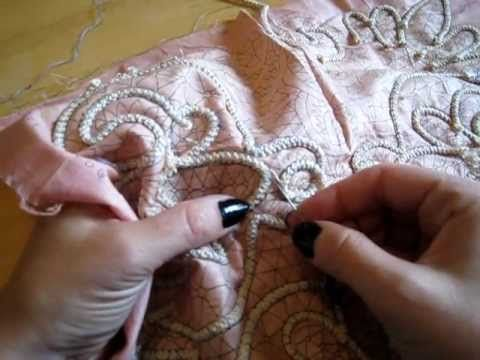 Romanian cord crochet tutorial - unravelling and stitching cord