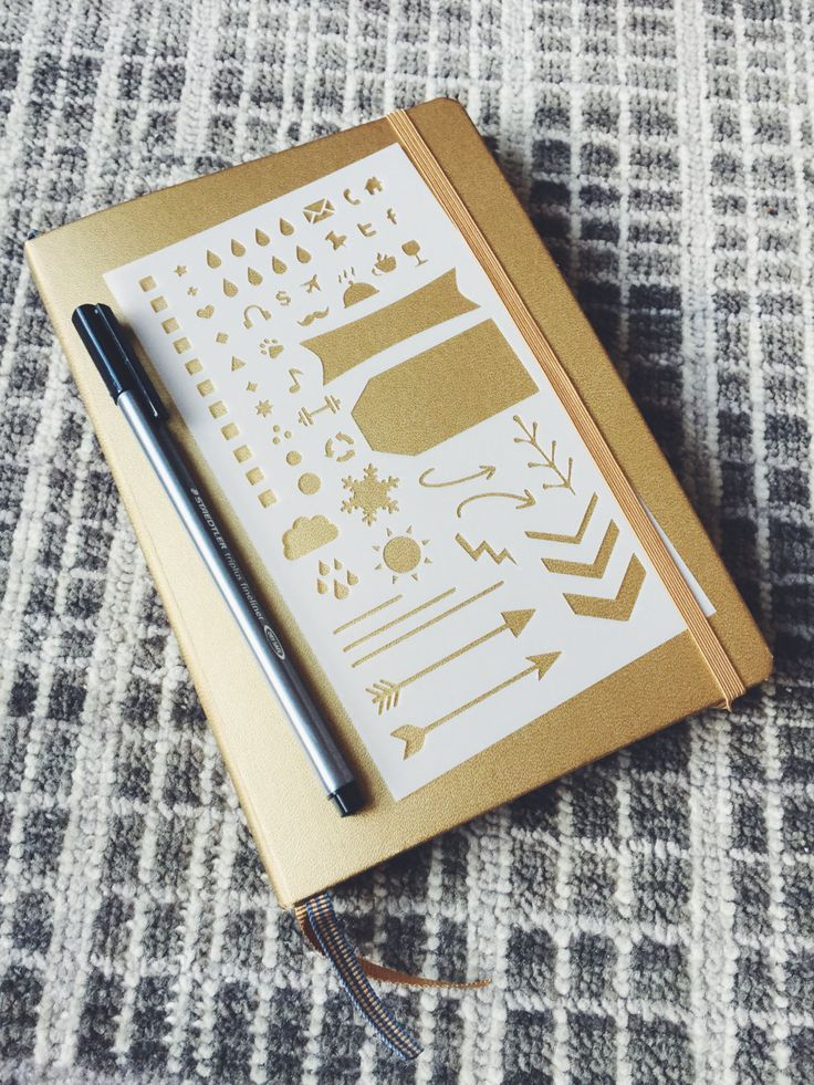 Essentials 2.0 Bullet Stencil for Bullet Journal Filofax Midori Traveler's Notebook Hobonichi Erin Condren Planner (8.00 USD) by MooAndTheBoo