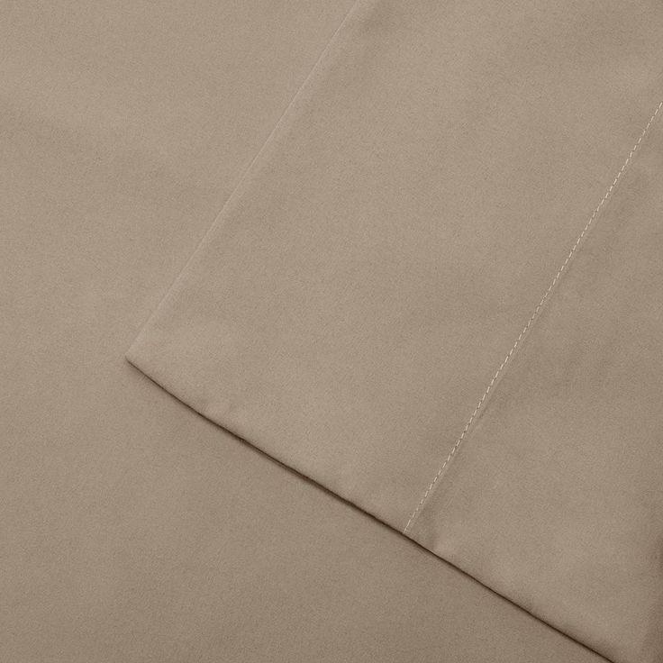 Madison Park 3M Scotchgard Microcell Deep-Pocket Sheets, Beig/Green Cal King (Beig/Khaki)