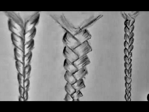 HOW TO DRAW BRAIDED HAIR (for beginners) | drawing ...