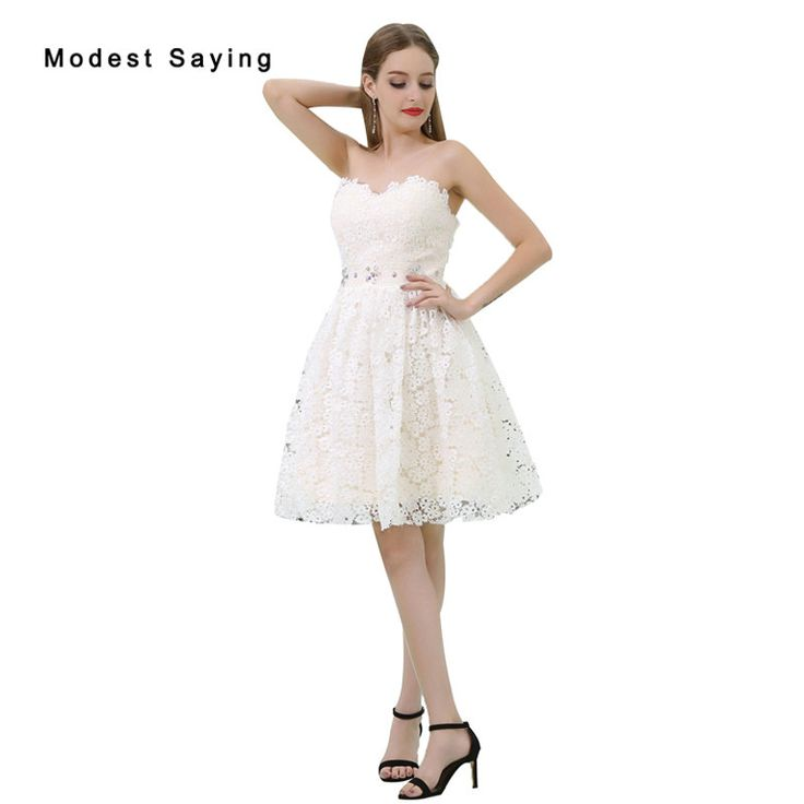 Find More Cocktail Dresses Information about Wholesale Elegant Ivory Rhinestone Lace Cocktail Dresses 2017 Girls Formal Short Homecoming Prom Gown vestidos de coctel B033,High Quality vestidos de coctel,China lace cocktail dress Suppliers, Cheap cocktail dresses from modest saying Lacebridal Store on Aliexpress.com