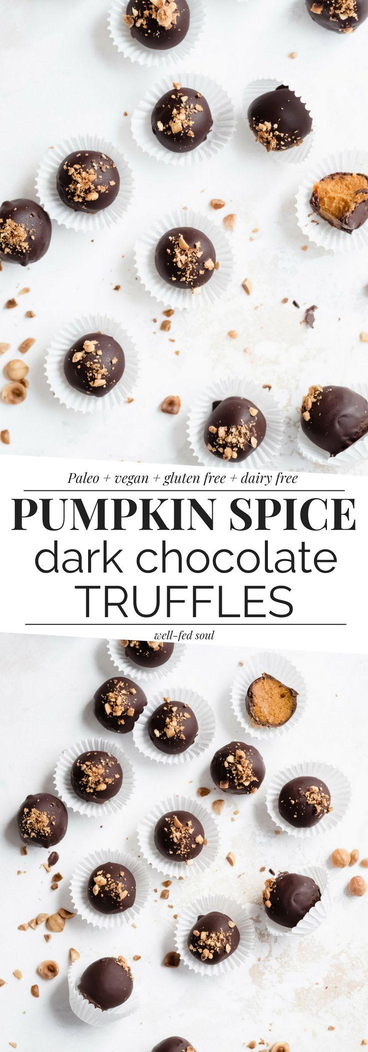 Paleo Dark Chocolate Pumpkin Pie Truffles Recipe
