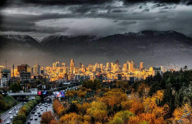 Was raining cats n dogs in Tehran