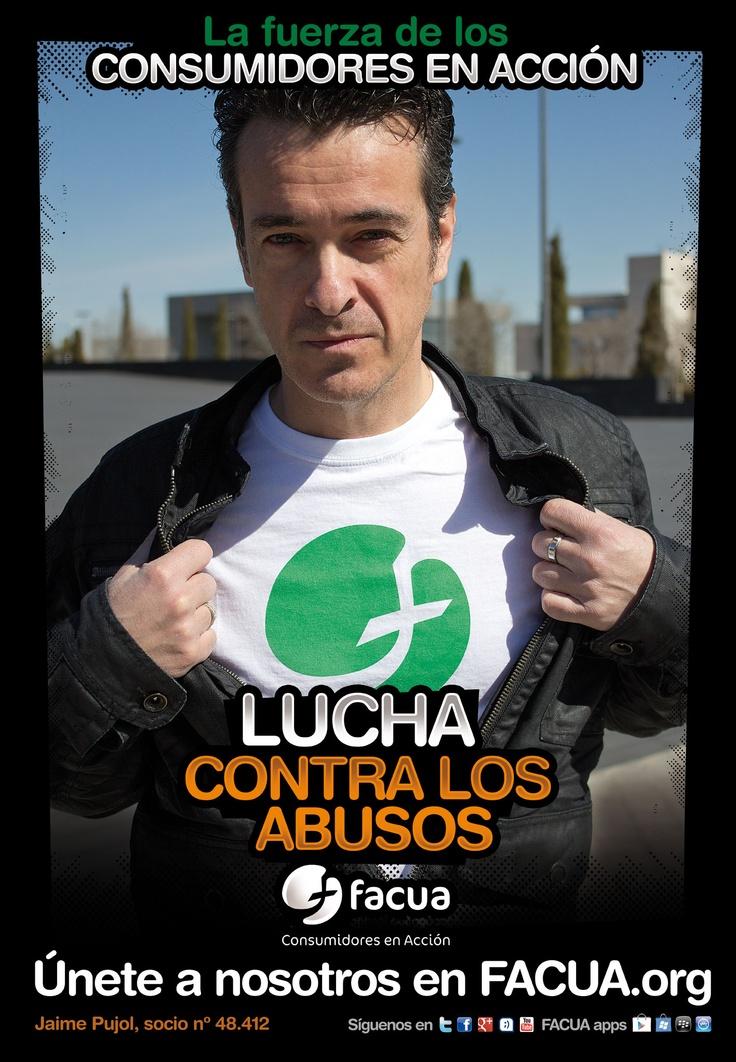 Jaime Pujol, socio de FACUA nº 48.412, llama a los consumidores a la lucha contra los abusos