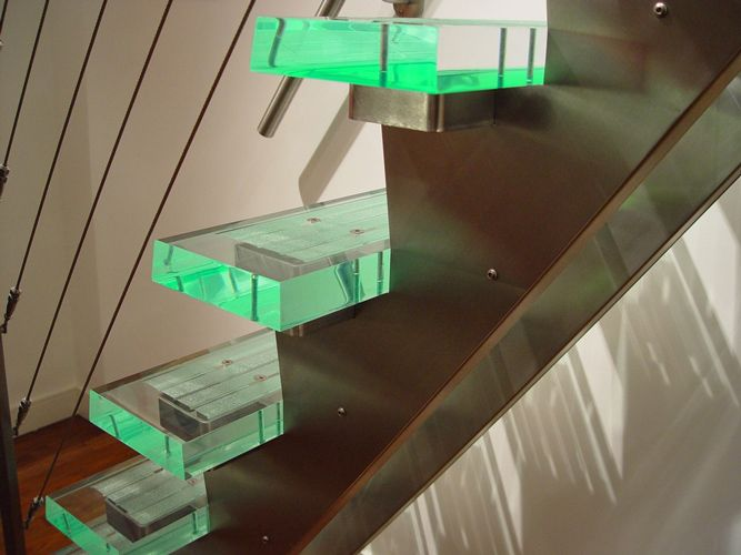 Lime Green Plexiglass Stairs   Fabrication Applications Using Lucite Cast Acrylic  Sheet At EPlastics.com