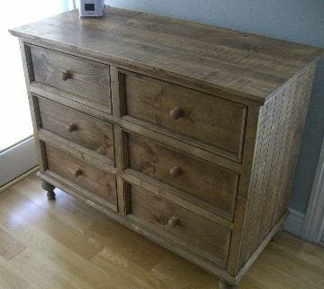 Handcrafted Aged Pine Dresser Solid Wood By Borboletadecors