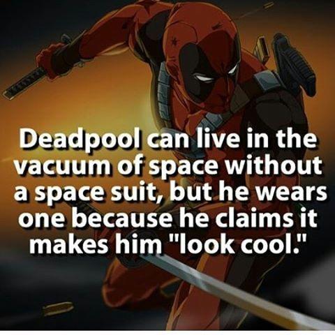 Deadpool!!!!!! #deadpool #wadewilson #superherofacts #space #immortality