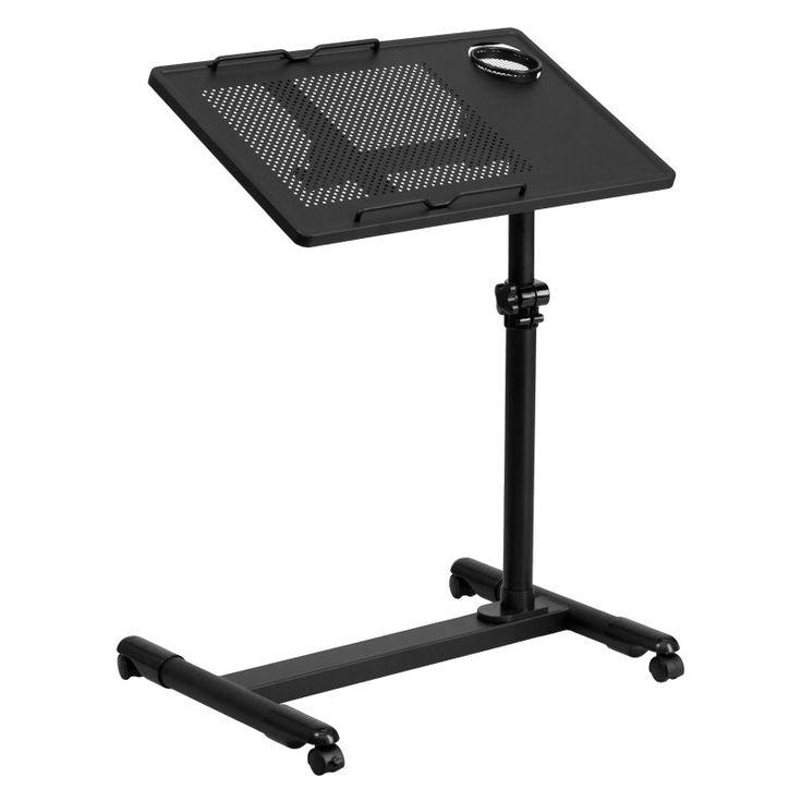 Flash Furniture Adjustable Height Computer Cart - Black - NAN-JG-06B-BK-GG
