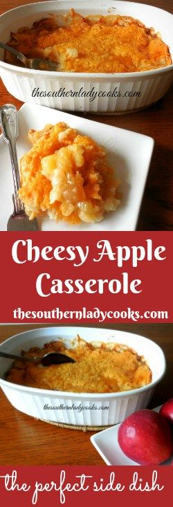 This Cheesy Apple Casserole is so easy and makes a great side dish. We love it with any kind of pork. I can eat this for breakfast and for dessert, too.
