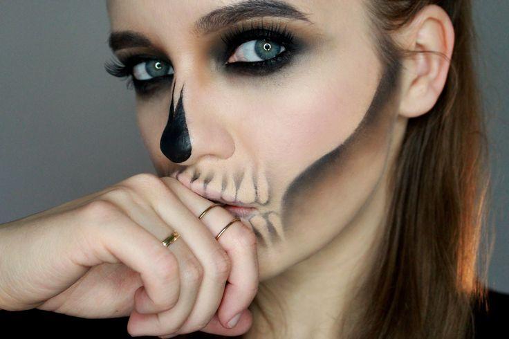 glam skull makeup for halloween