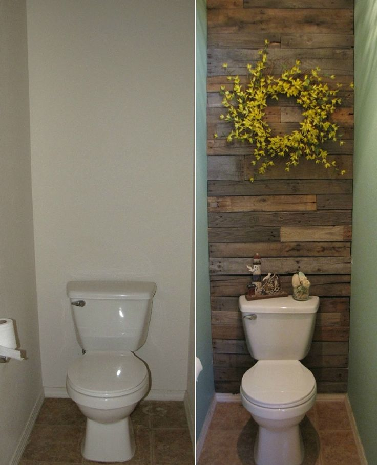 This Small Toilet Room Got An Excellent Makeover With Pallets Http Www