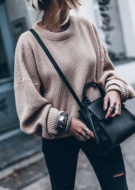 Best 25  Knit sweater outfit ideas on Pinterest | Winter sweaters ...