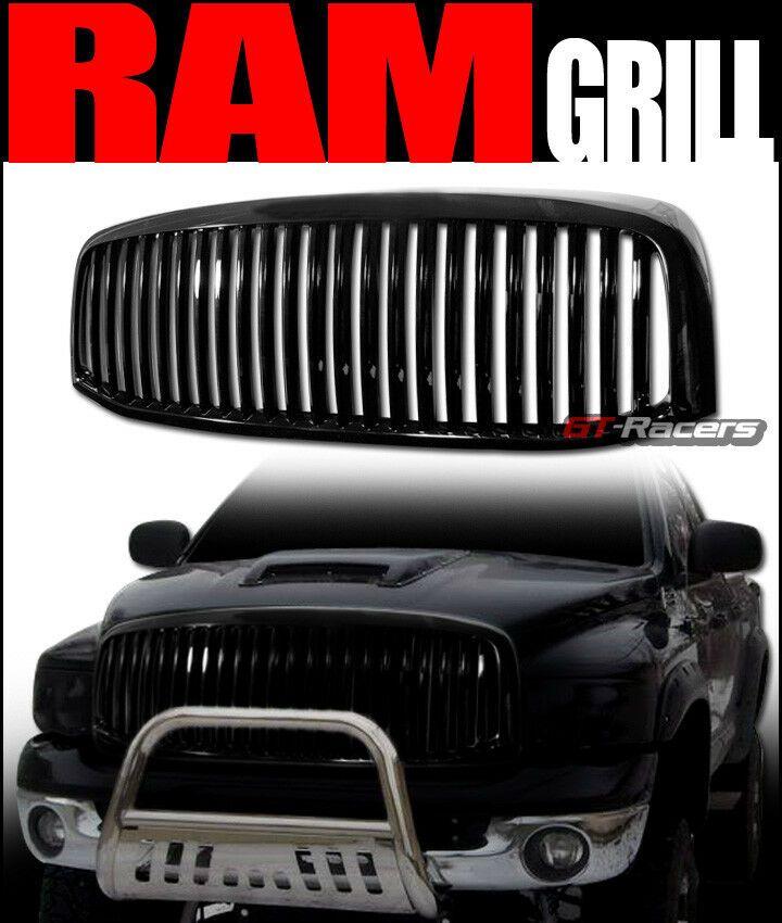 For 2006 2008 2009 Dodge Ram Black Vertical Front Hood Bumper Grille Guard 1pc Ebay Dodge Ram Custom Cars Grilles