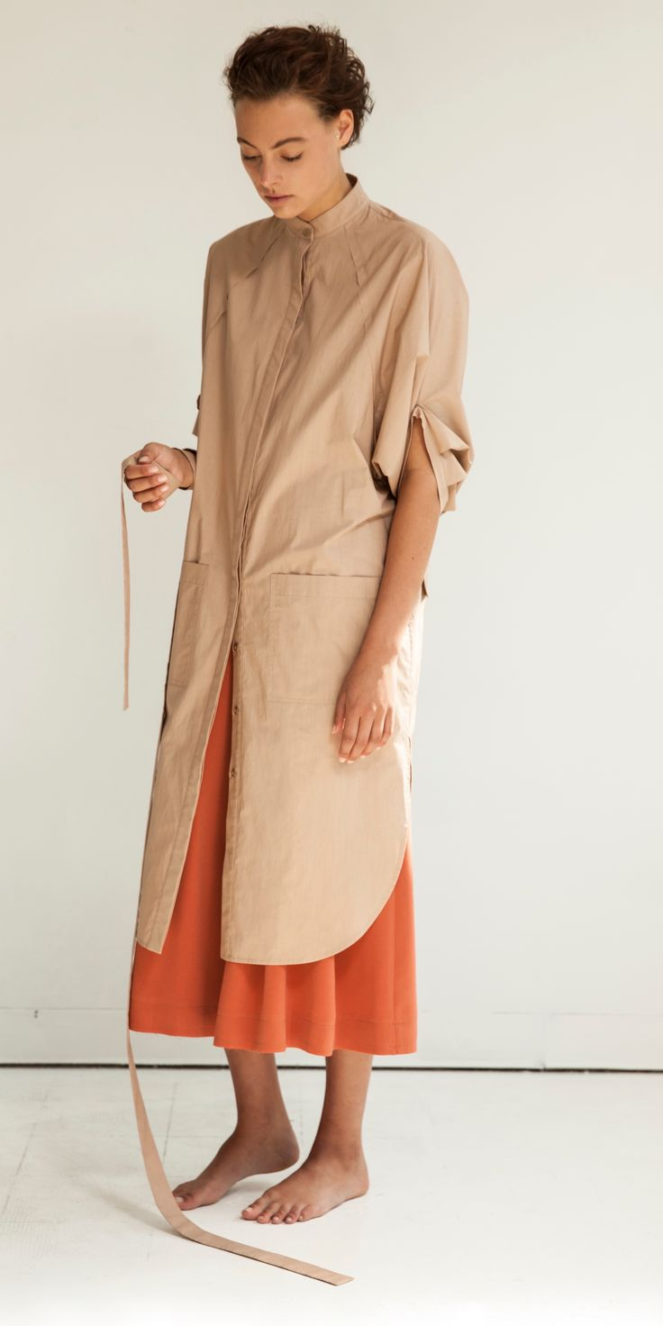 Look 6: Eclipse Artisan Shirt Dress in Terra Dust