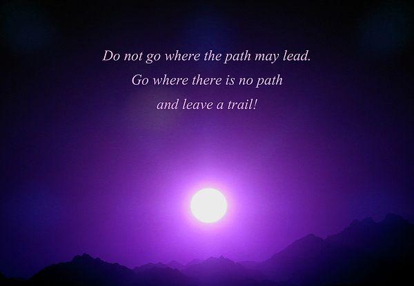 Where will your trail lead? Artwork by Johanna Hurmerinta