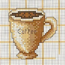 coffee cross stitch chart