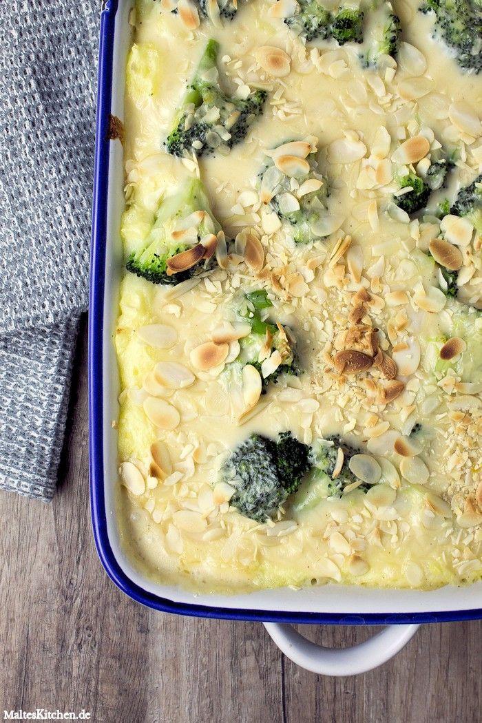 Ein ganz fixer und leckerer Auflauf mit Kartoffelbrei, Brokkoli und Käsesauce.