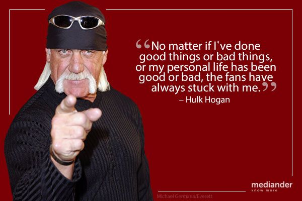 We all have bad times, but the good times that Hulk Hogan had put smiles on a lot of faces.