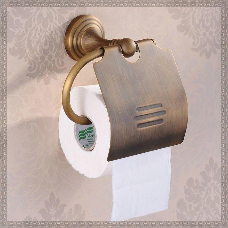 Дешевое Настенные новой ванной Accessiores устанавливает латунь легко установите держатели бумажных античная бронзовая отделка держатель бумажного полотенца HJ 1207F bj, Купить Качество Держатели бумаги непосредственно из китайских фирмах-поставщиках: 5PCS Luxury Antique Towel Bar, Toilet Paper Holder, Towel Rack, Bathroom Shelves, Toilet Brush Holder Accessories Set (U