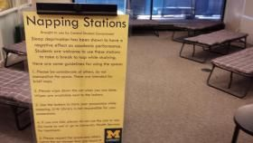 "University of Michigan's undergraduate library adds a ""napping station"" 