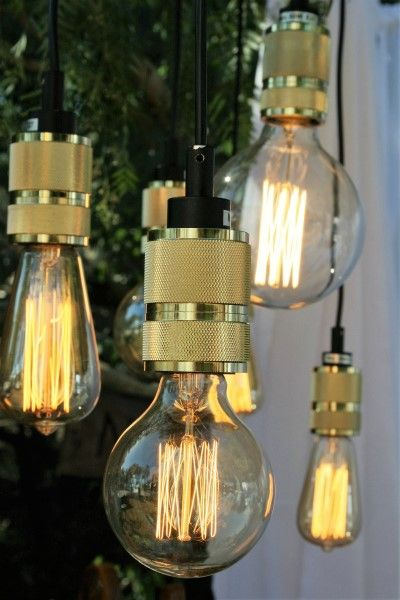 Vintage Edison pendants for hire