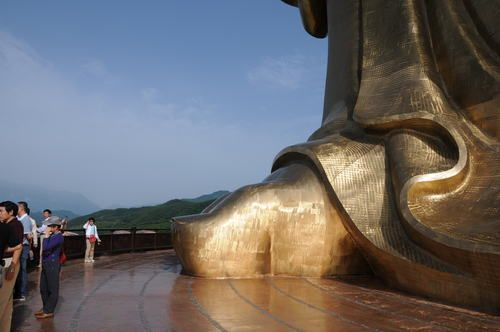 Foot of the Spring Temple Buddha |  Zhaocun | Lushan County | Henan | China. At 420 feet, it's the tallest statue in the world.