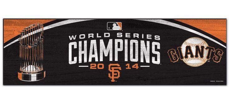 "San Francisco Giants 2014 World Series Champions Trophy Wood Sign 9""x30"""
