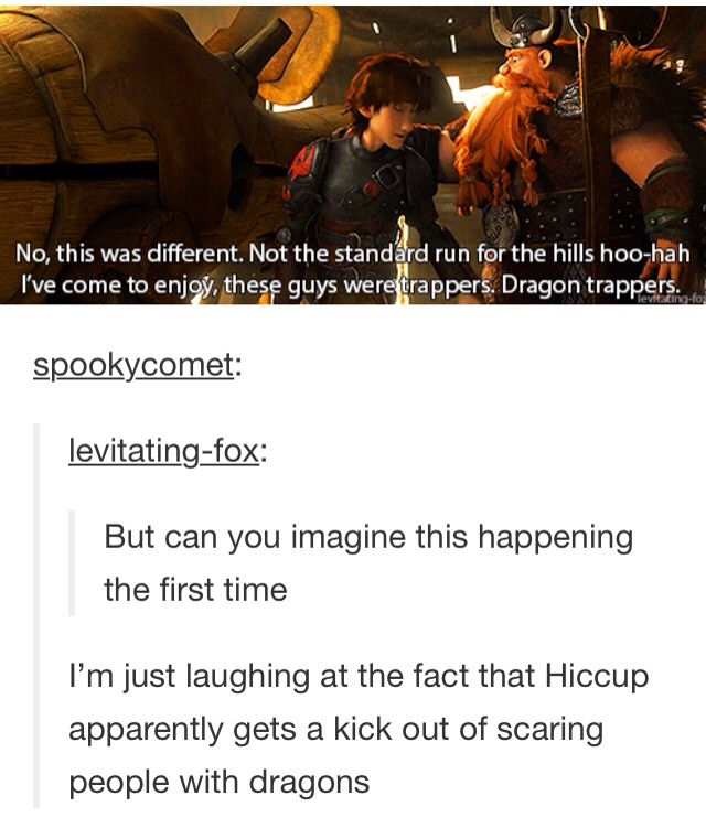 Haha yep, there's Hiccup for you. That's Dragons: Riders of Berk in a sentence.