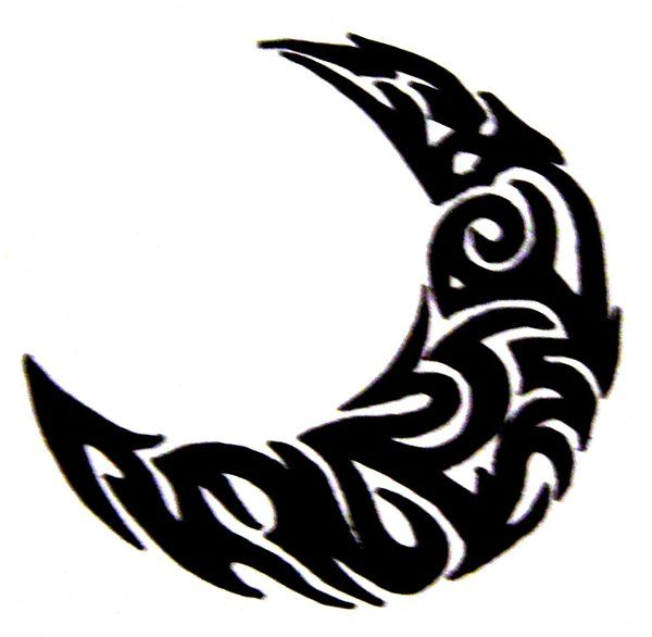 Tribal Moon 1 by MikadosGirl on DeviantArt