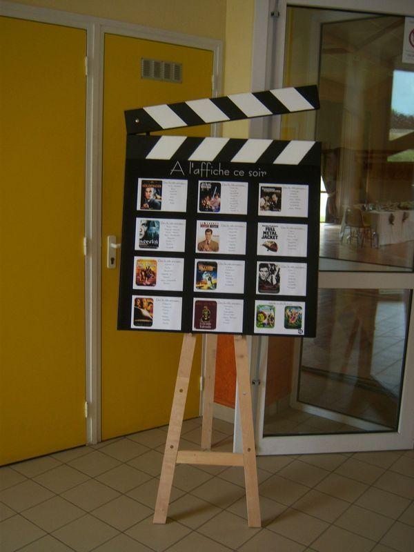 Placement de table theme cinéma