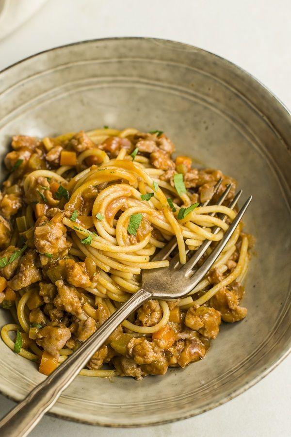Turkey Pasta Bolognese Recipe Recipe In 2020 Mince Recipes Healthy Turkey Pasta Bolognese Recipe