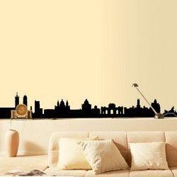 Μαδρίτη,  Περίγραμμα των σημαντικών κτιρίων, αυτοκόλλητο τοίχου,15,00 €,http://www.stickit.gr/index.php?id_product=651&controller=product