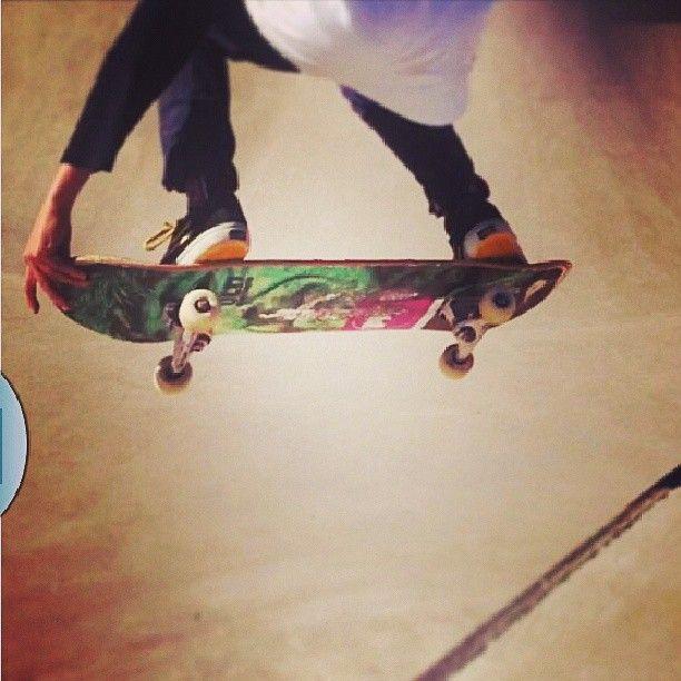 "Nils Cervin (@nilsc01) on his #picskateboards Green Morgan 8""."