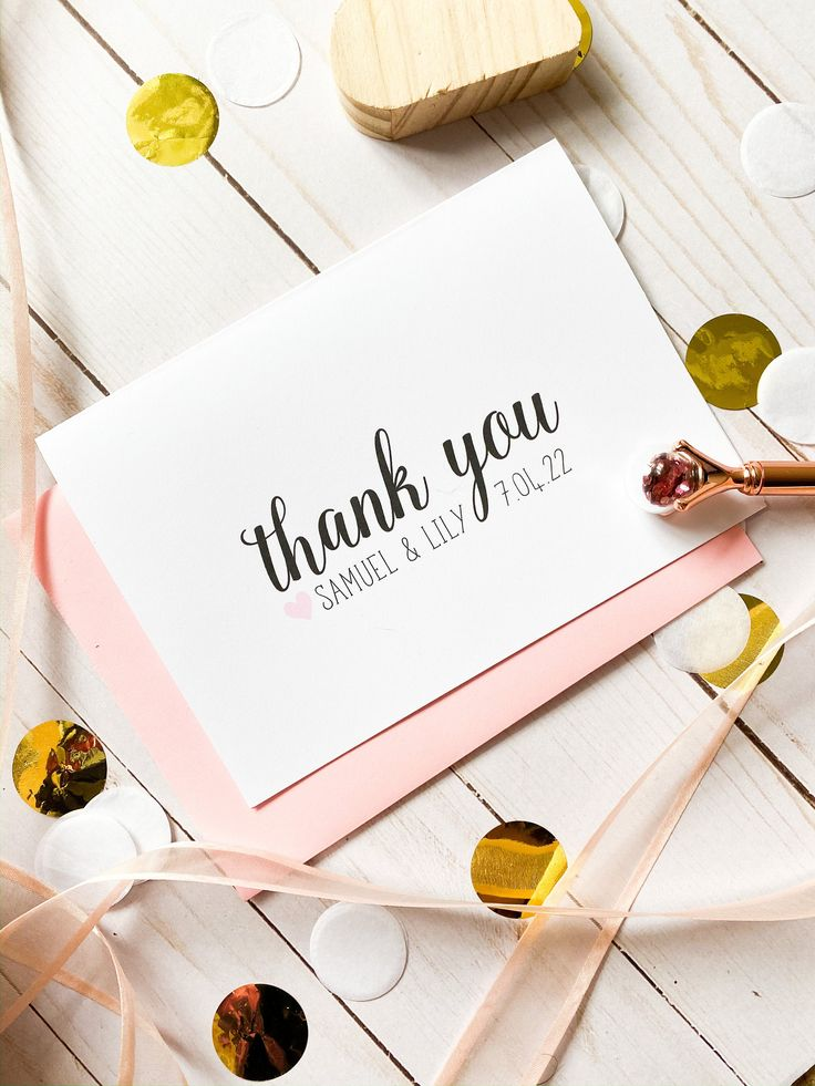 Bridal shower thank you cards personalized wedding cards