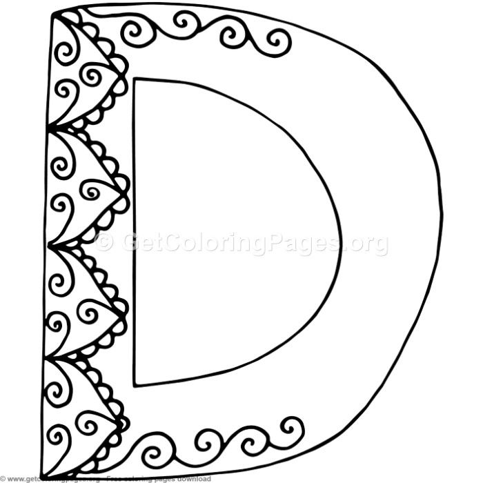 Flower Inspired Alphabet Letter D Coloring Pages Free Instant Download Coloring Coloringbook Color Lettering Alphabet Coloring Pages Alphabet Coloring Pages