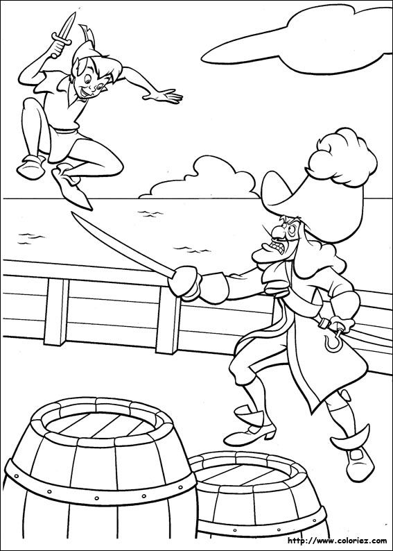 peter pan coloring page