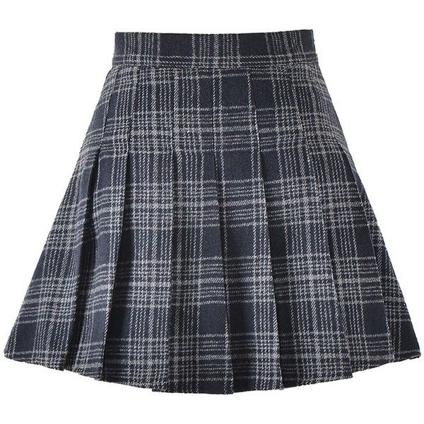 Chouyatou Women's High Waist Plaid A-Line Pleated Skirt with... ($35) ❤ liked on Polyvore featuring skirts, knee length pleated skirt, tartan pleated skirts, pleated skirts, high-waisted skirt and high waisted plaid skirt