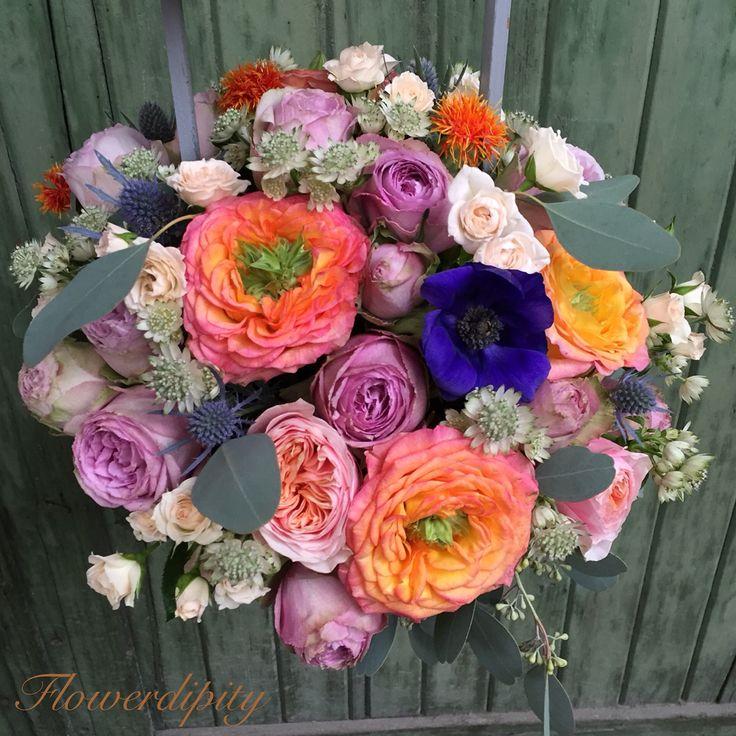 Joyful colors  #flowerdipity #blue #orange #peach #lila #flowers