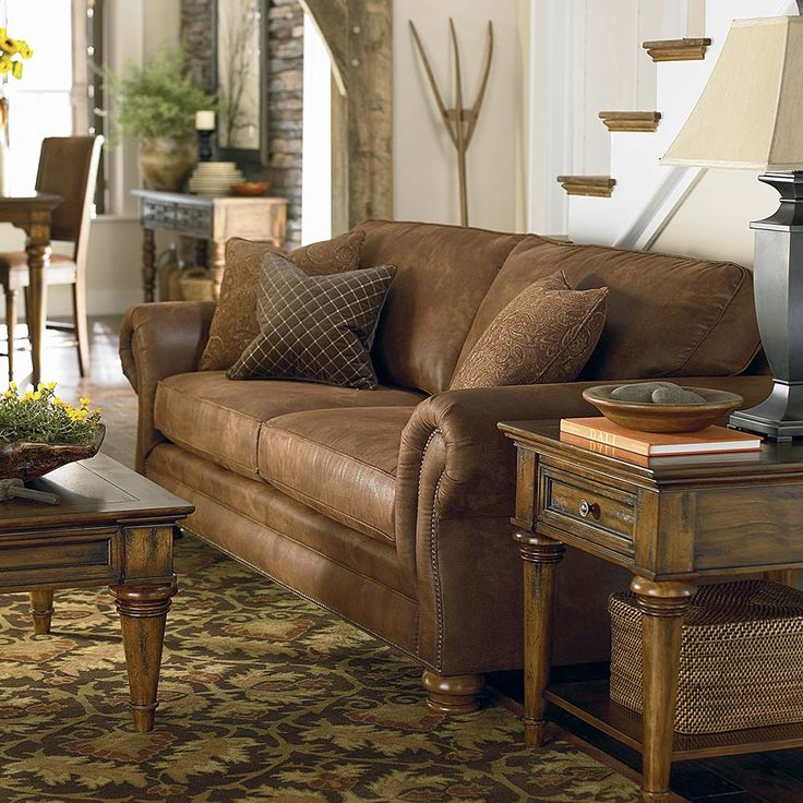 Classic nailhead trim upholstered sofa available in a for K furniture fabric world