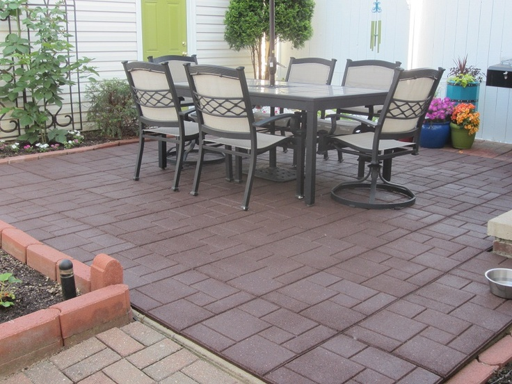 Envirotile Recycled Rubber Tiles - 35 Best Images About Envirotile On  Pinterest Concrete Slab - Rubber Tiles For Patio Our Designs