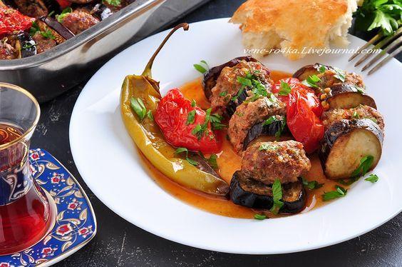 Турецкая кухня: Запеченный кебаб с баклажанами (Patlican Kebabi ) - Вкусная пауза