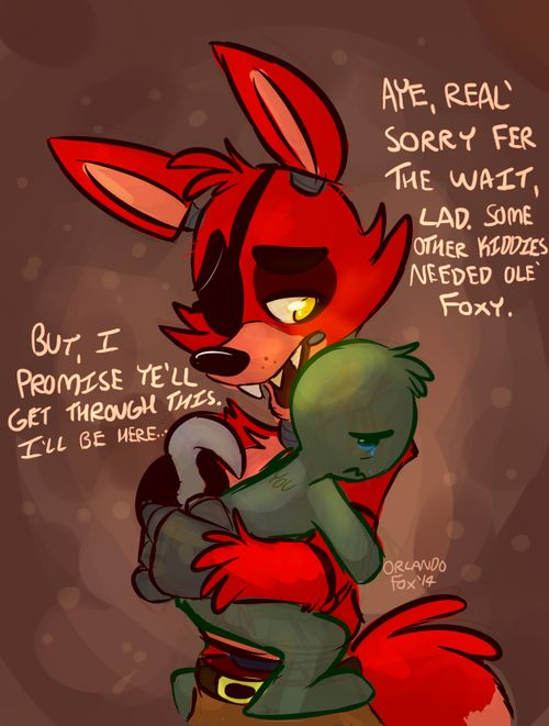This is so sweet, but foxy usually scares the frick out of me so..... Yeah I'm conflicted about this