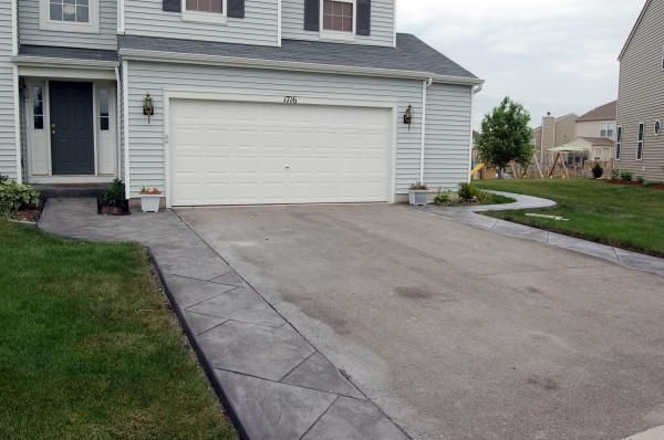 17 best images about driveway extenstion on pinterest for Cement driveway ideas